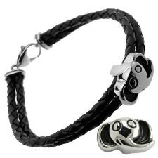 Elephant Leather and Steel bracelet