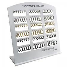Stainless Steel Hoop Earrings with Display