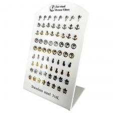 Stainless Steel Tropical Stud Earring Display
