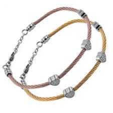 Wholesale Cable Bangle With Hears