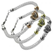 Mesh bracelet with Heart Charm