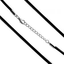 Intrincately Woven Black Chord Necklace (2mm)