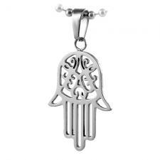 Stainless Steel HAMSA Judaica Symbol Pendant