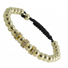 Fashion Adjustable Gold Color Beaded CZ Bracelet