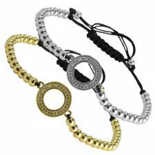 Fashion Beaded Encrusted Circle Bracelet
