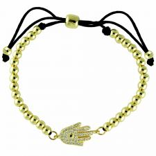 Fashion Adjustable Beads Bracelet W/ Hamsa