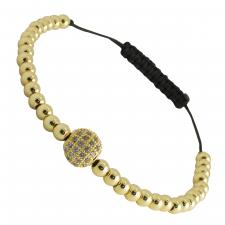 Stainless Steel Gold PVD Micro Pave Bracelet