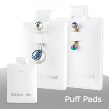 Surgical Steel Inprinted Puff Pads. 1 Pack comes with 100pcs