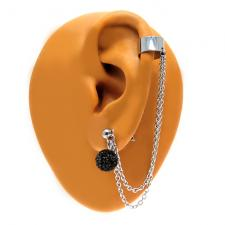Ear Cuff with Pave ball