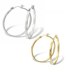 Stainless Steel and Gold PVD Hoop Earrings