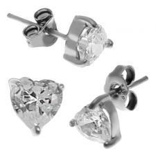 Heart Silver Studs