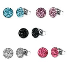 Stainless Steel Earrings With Colored CZ Stones
