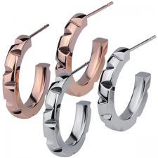 stainless steel Semi hoop Earrings