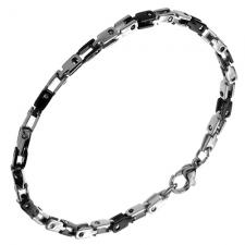 Wholesale Black and Steel Slim bracelet