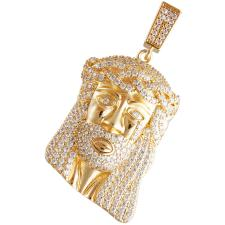Gold Color Micro Pave Crying Jesus Pendant