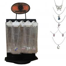 Assortment of 120 Necklaces with Pendants (With Display)