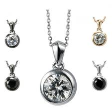 Elegant Stainless Steel Jeweled Pendant