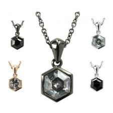 Elegant Stainless Steel Jeweled Pendant