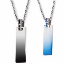 Jeweled Stainless Steel Pendant