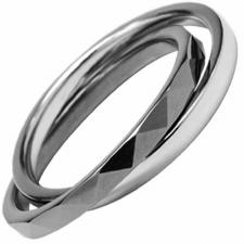 Double Banded Tungsten & Stainless Steel Ring
