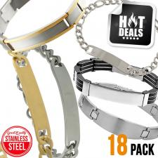 Stainless Steel Assorted Engravable Bracelet Pack