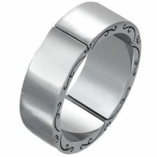 Stainless Steel Cutting Ring With Tribal Design
