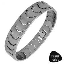 Awesome Titanium Bracelet with Matte Finish and Unique Design
