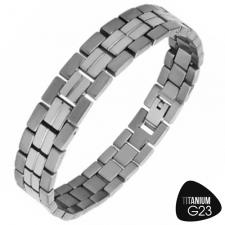 Beautiful Titanium Bracelet with Shiny Outter Finish and Matte Inner Finish
