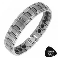 Stunning Titanium Matte Finish Link Bracelet with Therapeutic Magnets