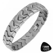 Titanium Bracelet with both Shiny and Matte Finsh