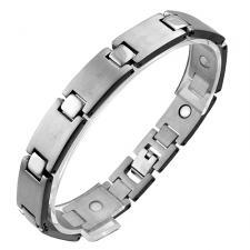 Magnetic Titanium Bracelet w/ Satin and Shiny Finish