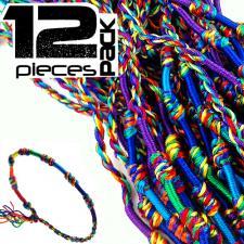 Braided Macrame Rainbow Cord Bracelet