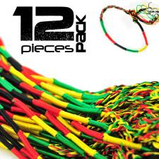 Rasta Colored Thread Adjustable Bracelet