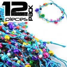 Colorful Hemp and Rattle Bells Adjustable Bracelet