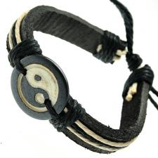 Ying Yang Leather Bracelet