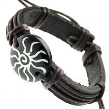 Sun Leather Bracelet