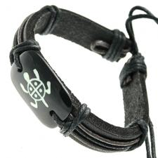 Tribal Turtle Leather Bracelet