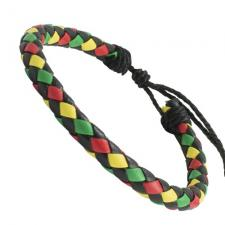 Braided Irie Colored Leather Bracelet