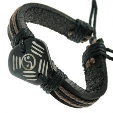 Ying Yang Leather Bracelet
