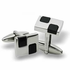 Stainless Steel cufflinks with black PVD
