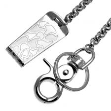 Gorgeous Stainless Steel Money Clip with Chain - Lobster Clasp