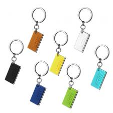 Very Sporty Stainless Steel And Silicone Key Chain With ACTIVE Inscription