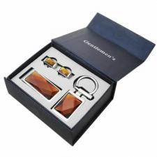 Stainless Steel mens set -- Includes money clip, cufflinks, and key holder