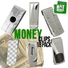 Money Clip 18 Piece Stainless Steel Package