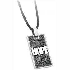 Stainless Steel Pendant with Black PVD and HOPE Inscription