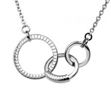 Stainless Steel Necklace With Three Conjoined Rings