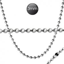Stainless Steel Necklace (Dog Tag Necklace) - Suitable for Pendant - 3mm Wide