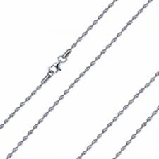 Beautiful Stainless Steel Bubble Necklace-- 2.4mm Wide