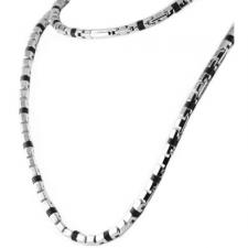 Gorgeous Stainless Steel Chain with Black Rubber Design Very Nice !