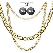 Cuban Figaro Chain in Stainless Steel
